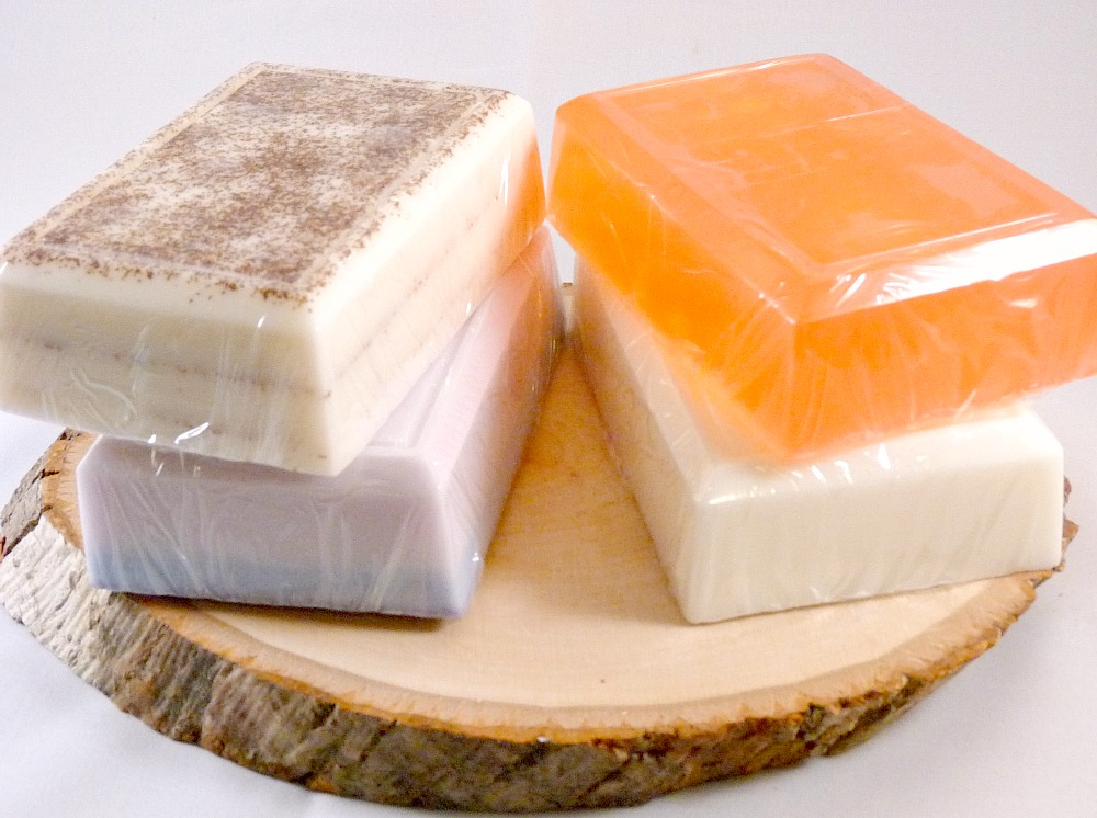 Soap, Marula Oil Soap Sampler, 4 Bars